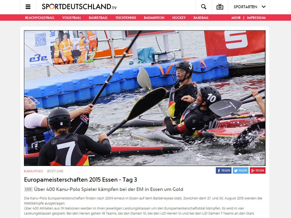 Live Stream Of Canoe Polo Championships 2015 Bmk Tv