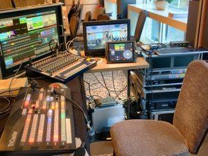Arbeitsplatz für Bildregie bei Liveproduktion