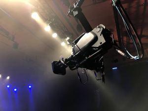 TV Show Aufzeichnung mit Kamerakran