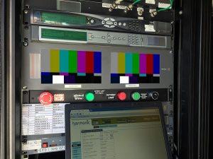 Sende- und Empfangstechnik für HD-Liveübertragung und Broadcasting per Satellit im KU-Band