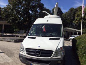 D-SNG Übertragungswagen jederzeit Berlin, Leipzig, Hamburg und München einsatzbereit