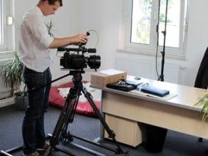 HD Kamera bei Dreharbeiten