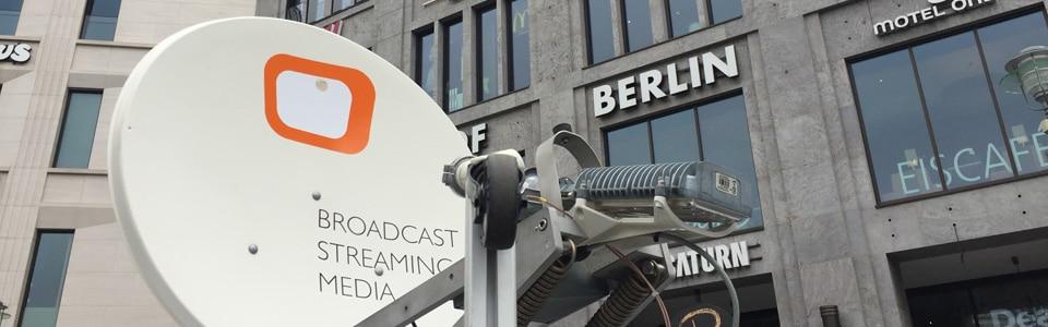 BMK.TV Livestream Satelliten-Uplink-Berlin