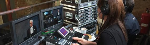 Mehrkamera Liveproduktion zum Unternehmensjubiläum im Residenzschloss Dresden