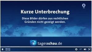 Geo IP Block im ARD Livestream (Screenshot ARD Mediathek)