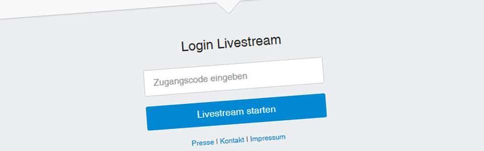 Passwortschutz User Token Livestream