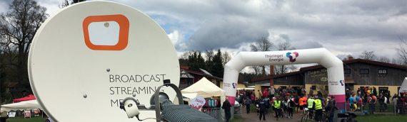 Liveübertragung vom Halbmarathon der Thüringer Energie AG