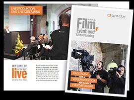 BMK.TV Image Flyer Portfolio Broschuere