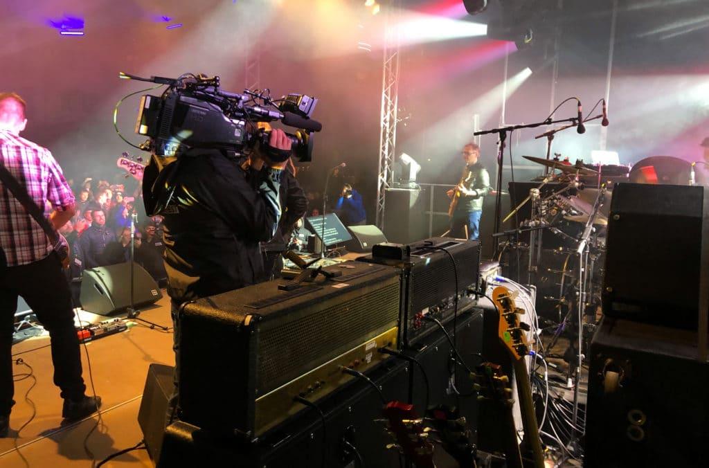 Mobile Funk Kamera auf Konzert