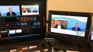 Liveschalte virtuelle Konferenz