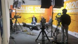 Studio für eine virtuelle Konferenz